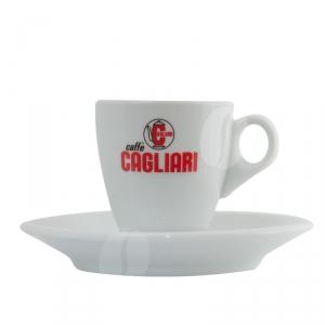 Originele Cagliari espresso kop en schotel