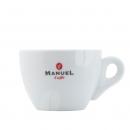 Manuel Caffe Cappuccino kop en schotel - porcelein