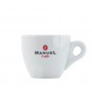 Manuel Caffe Espresso kop en schotel - porcelein