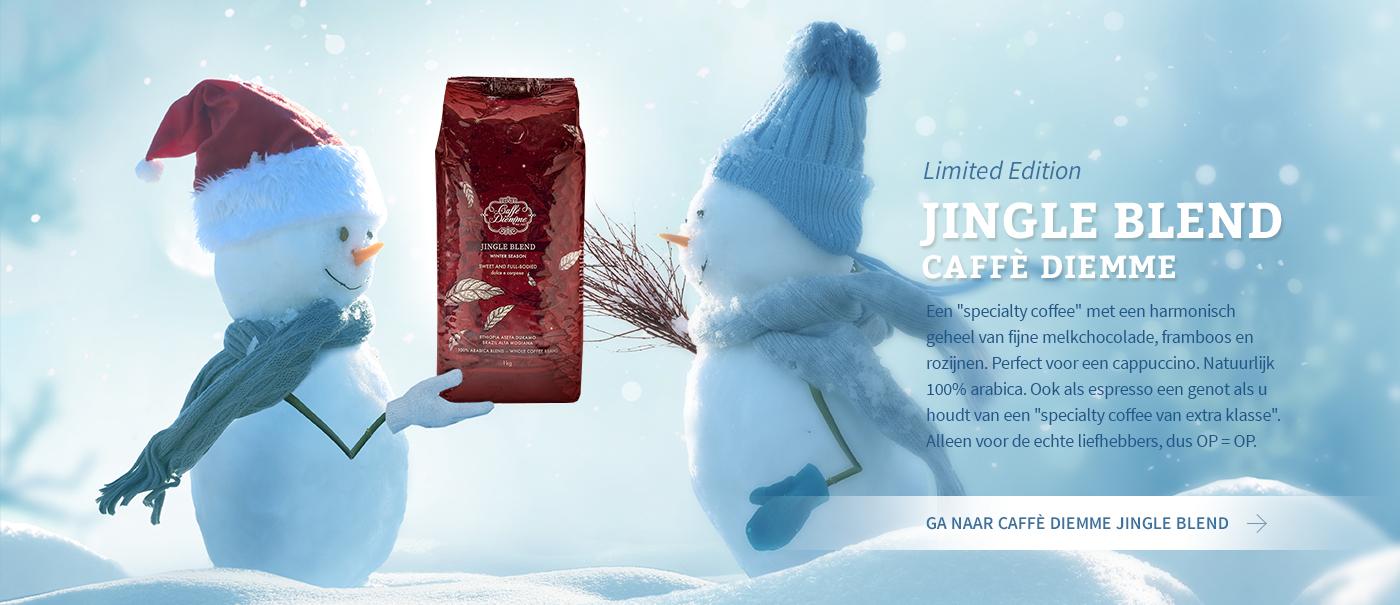 Caffè Diemme Jingle Blend, limited edition. Perfect voor een cappuccino. OP=OP.