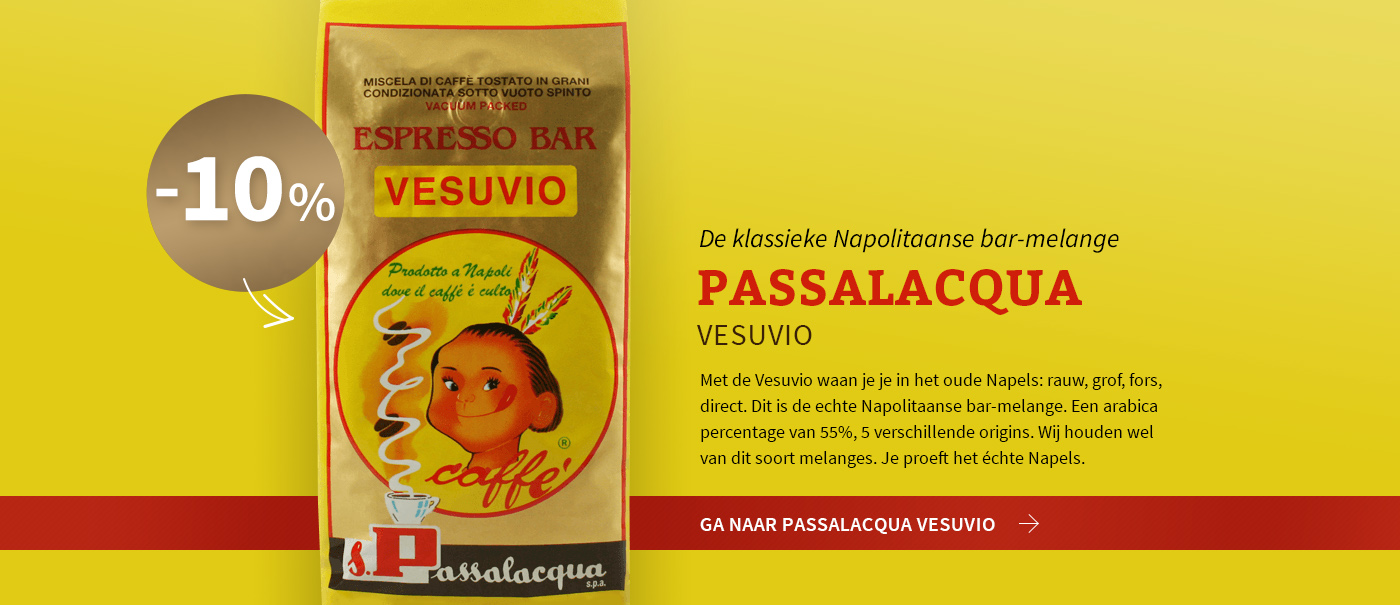 Koffie van de maand mei: Vesuvio van Passalacqua met 10% korting